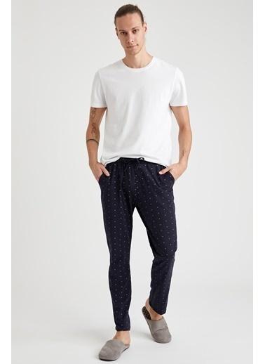 DeFacto Baskılı Regular Fit Pamuklu Pijama Alt Lacivert